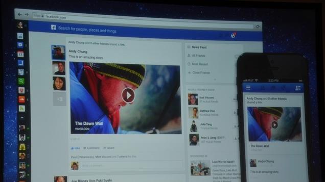 Asi se ve el nuevo layout de Facebook